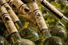 Nahaufnahmen von Flaschen