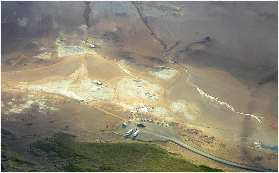 Námaskarð aus der Luft