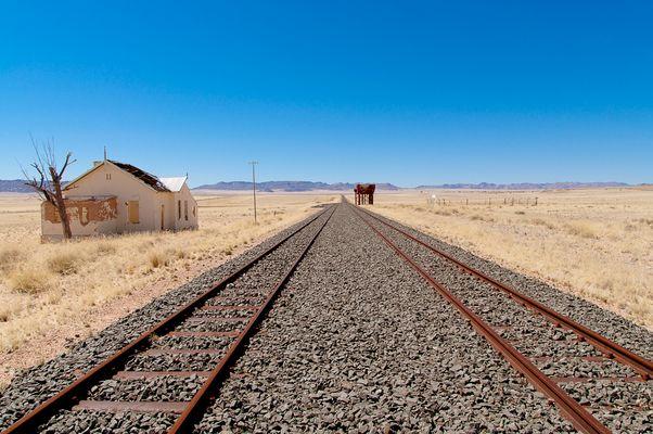 Namibia 2012: Bahnhof Garub auf dem Weg nach Lüderitz