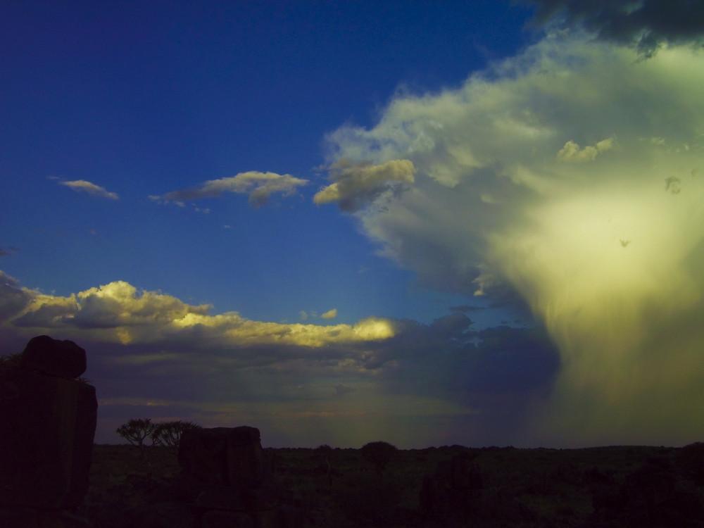 Namibia - Keetmanshoop, Ende des Naturschauspiel´s