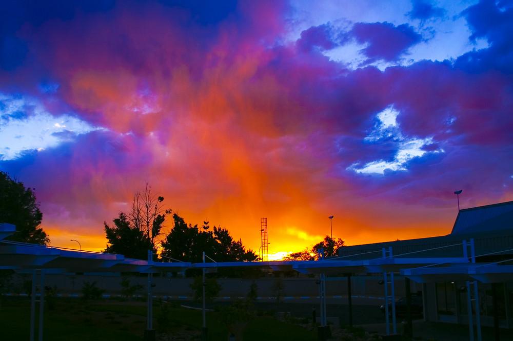 Namibia - Sundown am Airport und Ende einer Reise