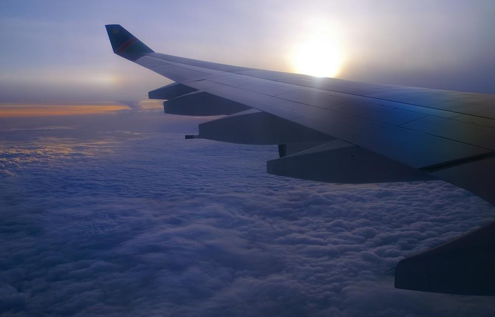Namibia - Windhoek, 747 der Air Namibia im Landeanflug