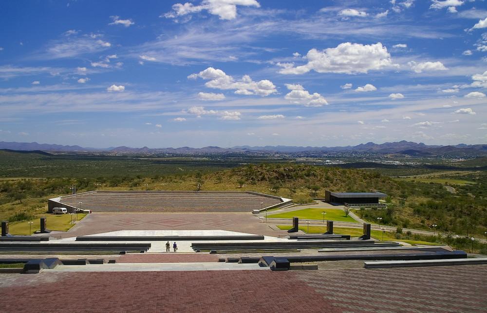 """Namibia - Windhoek, Blick vom """"Heldenacker"""" in´s Windhoeker Tal"""