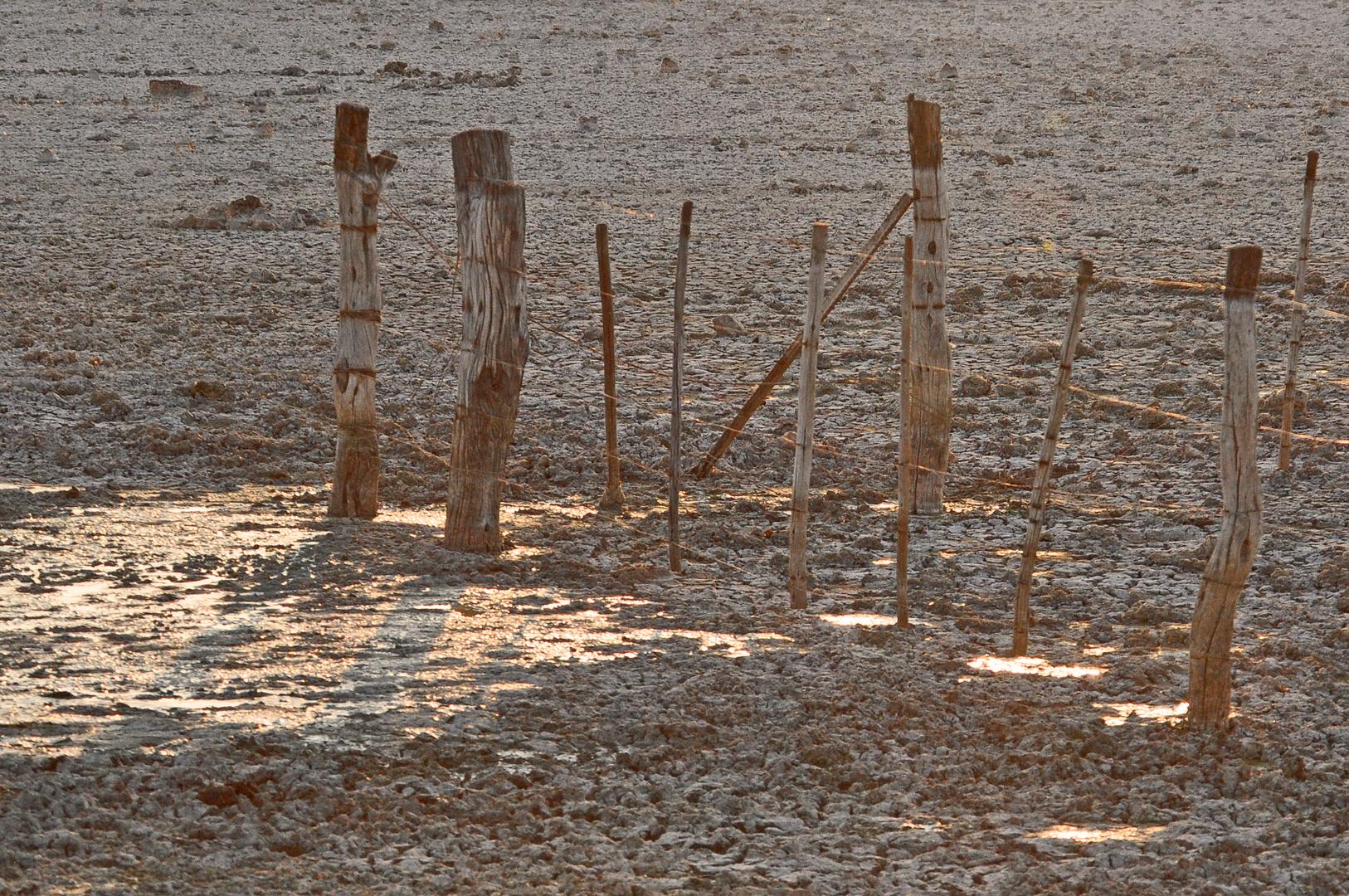 Namibische Zäune ohne Wasser
