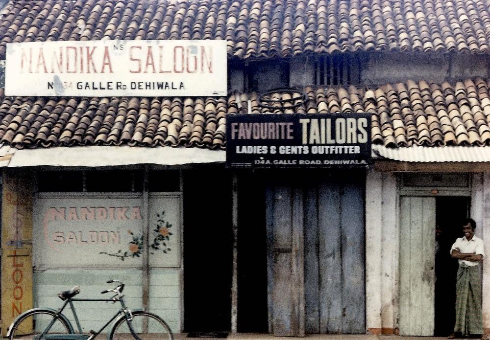 Nandika Saloon/Tailors, Galle Road, Columbo, Ceylon 1976