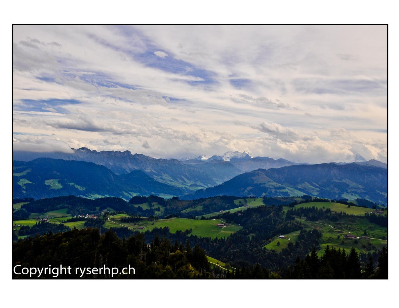 Napf Richtung Bramboden, Alpen Schweiz
