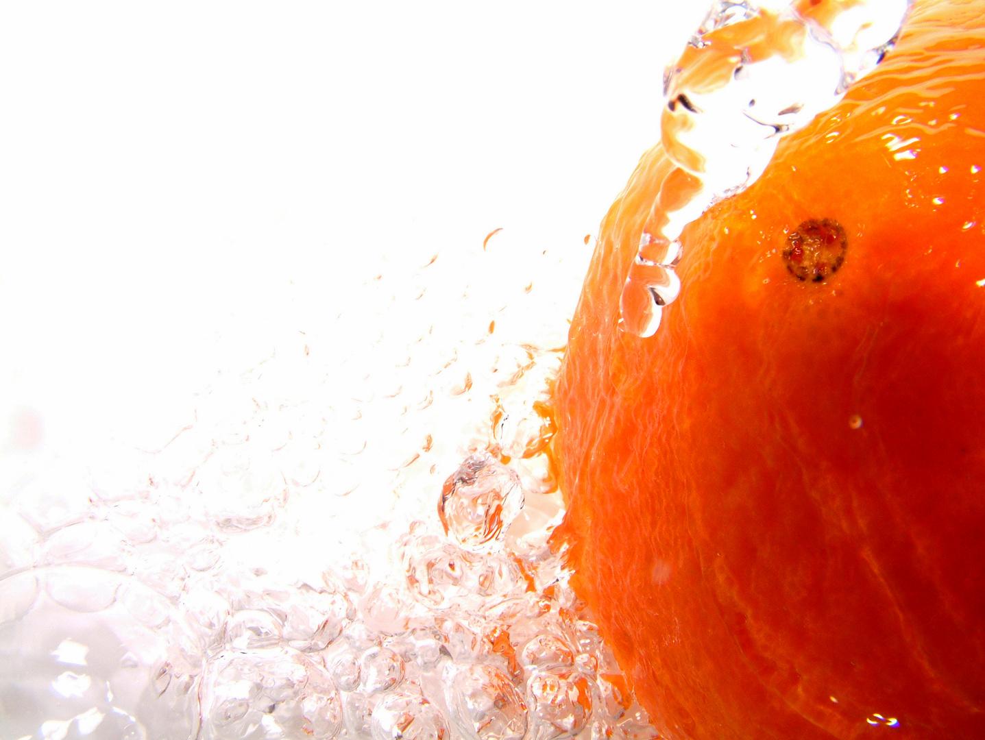 Naranja en su punto de agua