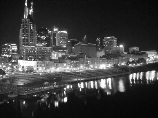 Nashville at night.
