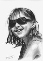 Nasse Haare in der Sonne