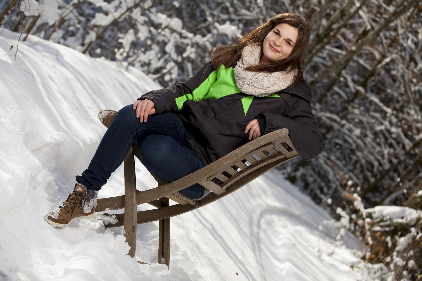 Nathalie im Schnee