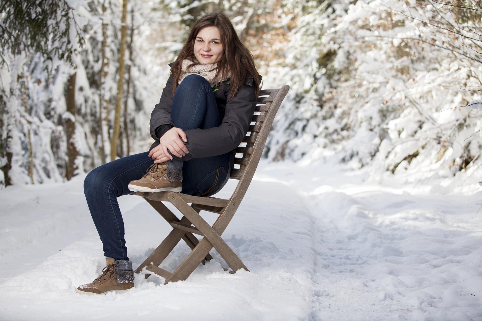 Nathalie im Schnee . . .