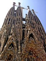 Nativity Façade, Portal of Hope (L) Portal of Charity (R), & Bell Towers, Sagrada Família, Barcelona