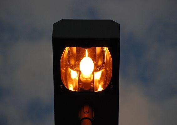 Natriumdampflampe am Hauptbahnhof