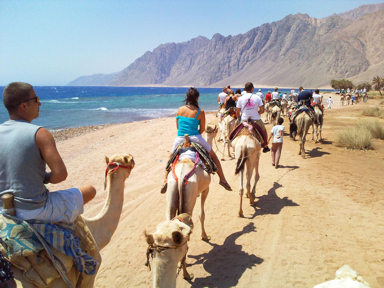 Natur, Menschen und Kamele..
