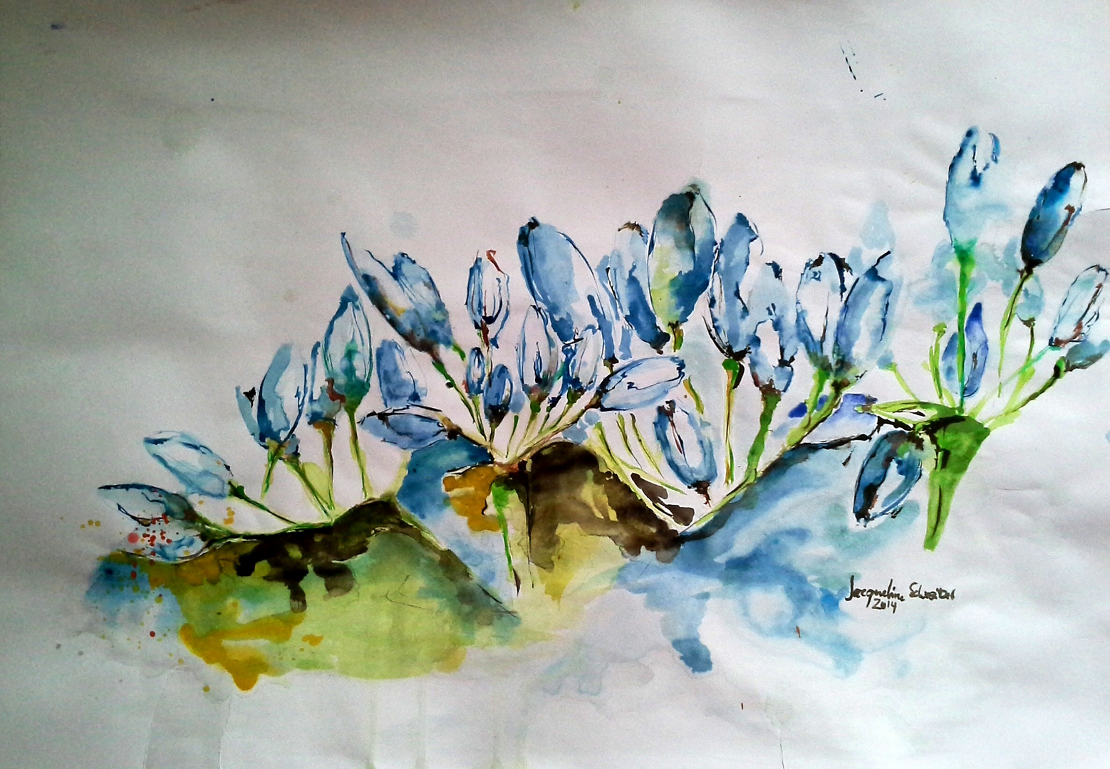 nature in watercolor .... finished