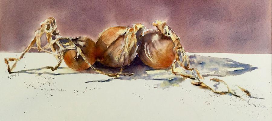 Nature morte (2) - Les oignons