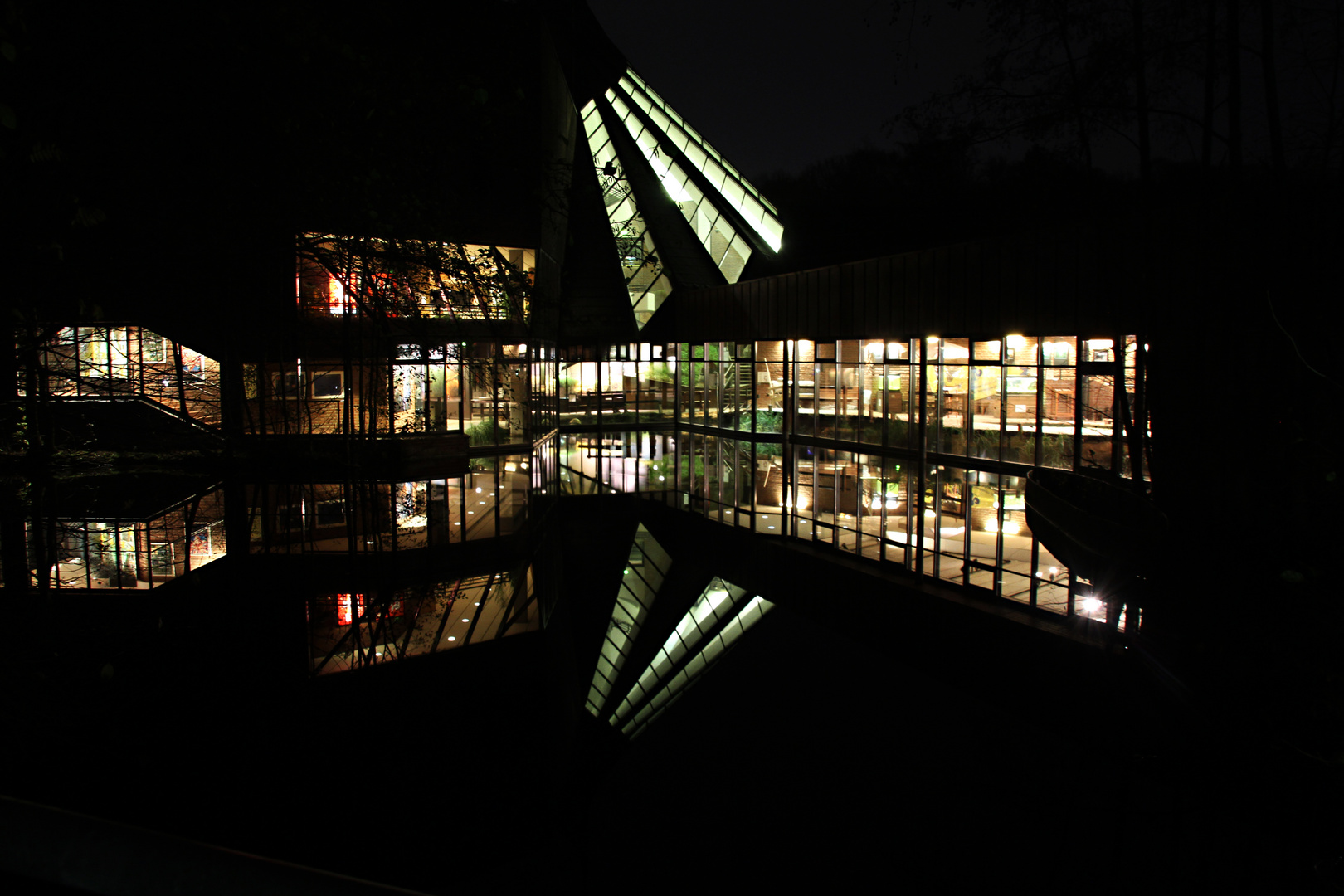 Naturkundemuseum bei Nacht
