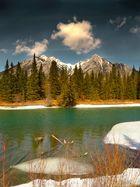 Naturlandschaft in den Rockies