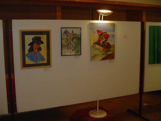 Nautle in Aquarell, Schloss Sigmaringen in Aquarell, Napoleon in Oel