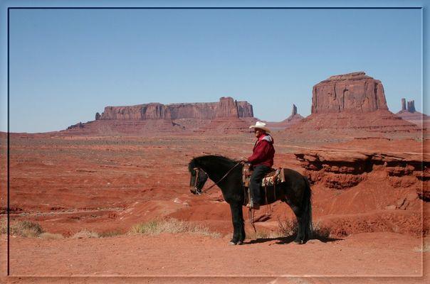 """Navajo-Chief """"Jackson"""" auf seinem Mustang """"steht auf 4 Beinen"""""""