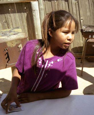 Navajo girl , Chaco Canyon , New Mexico