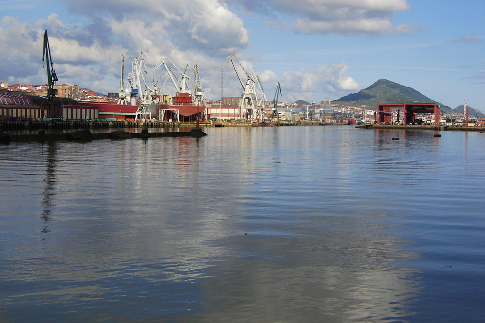 Naval de Sestao shipyard; Bilbao - Northern Spain.