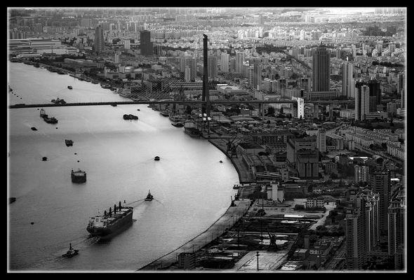 Navigation sur le Huangpu Jiang