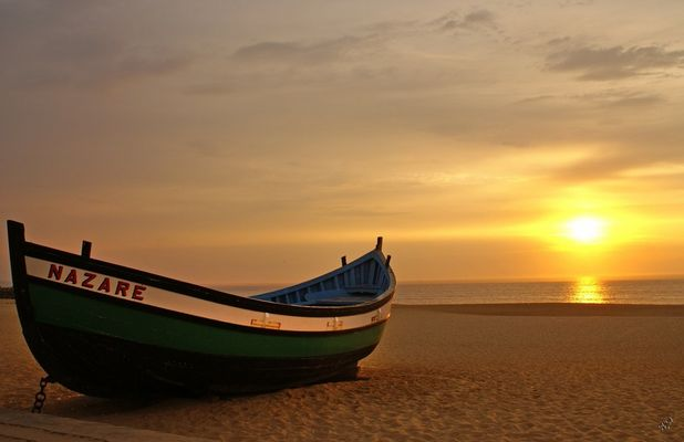 NAZARE au soleil couchant...