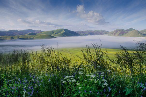 Nebbia sul Pian Grande