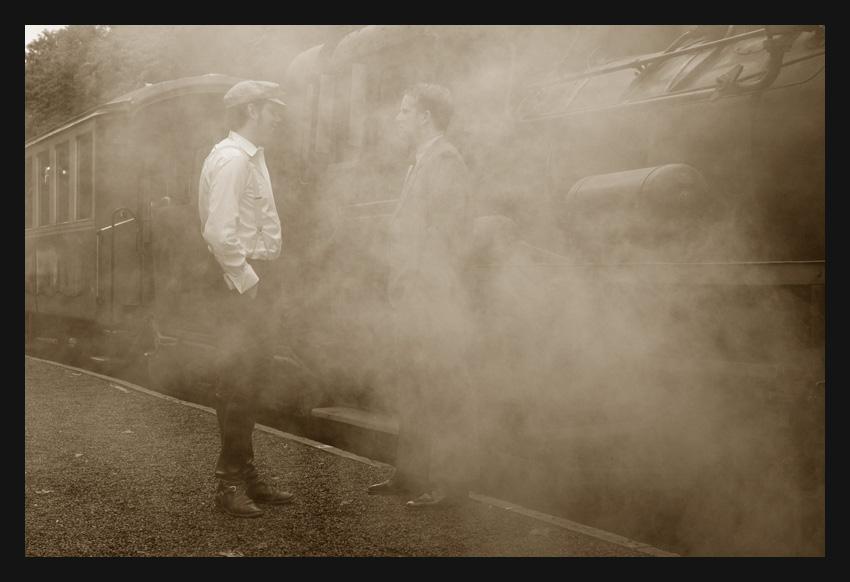 Nebel am Bahnhof