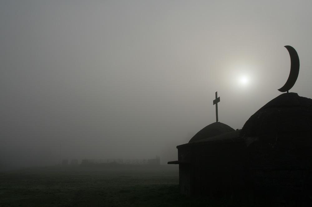 Nebel auf dem Cranger Kirmesplatz