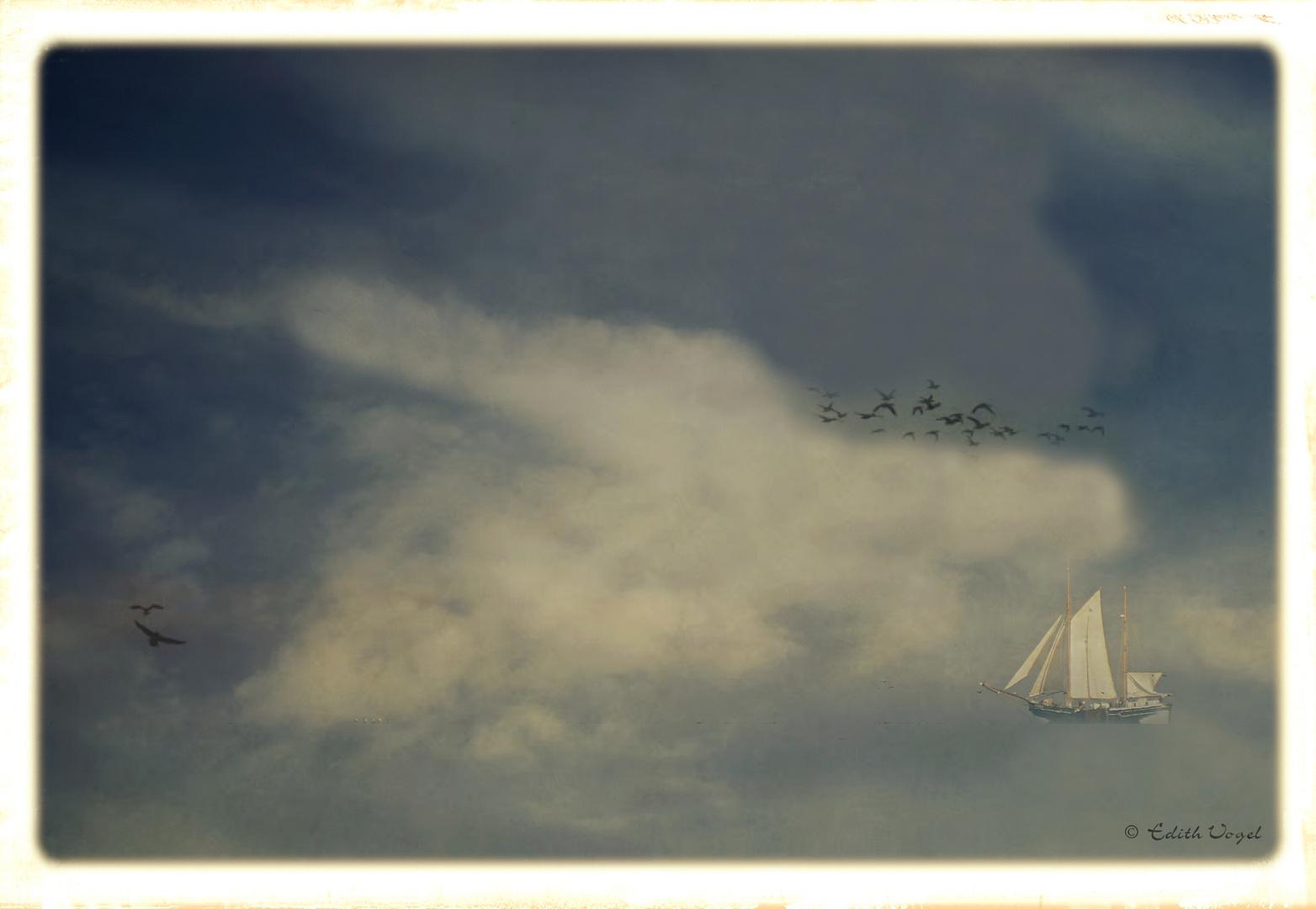 Nebel auf dem Meer