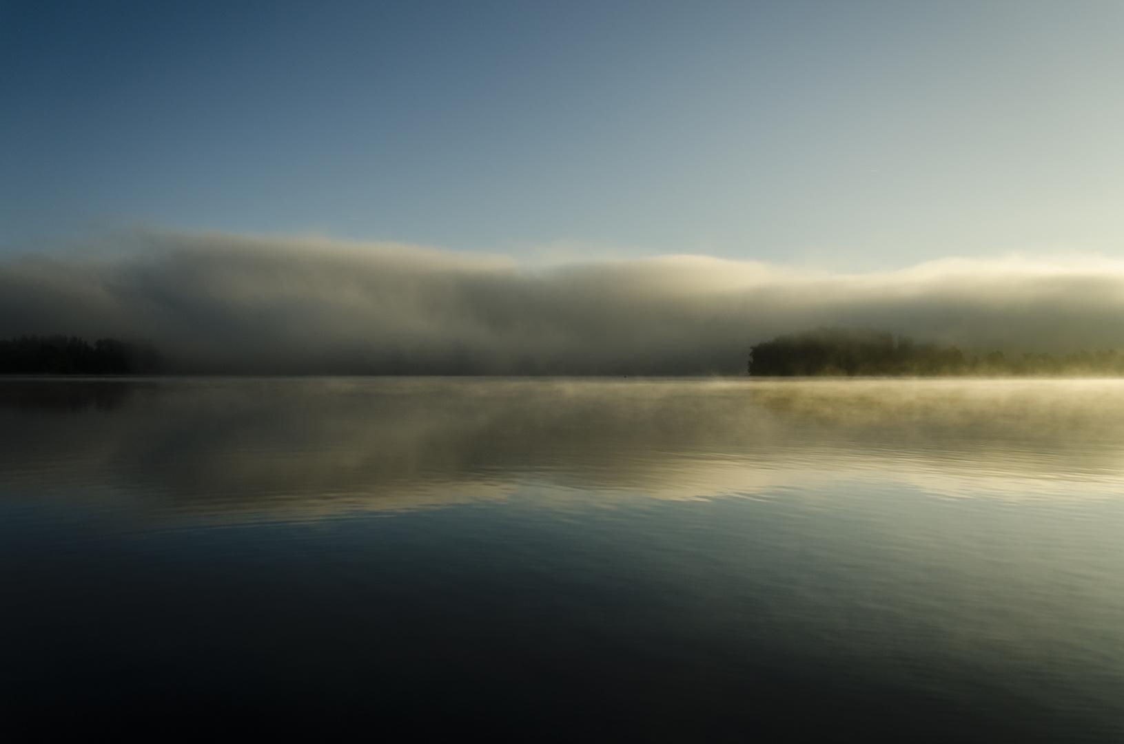 Nebel auf dem Möhnesee