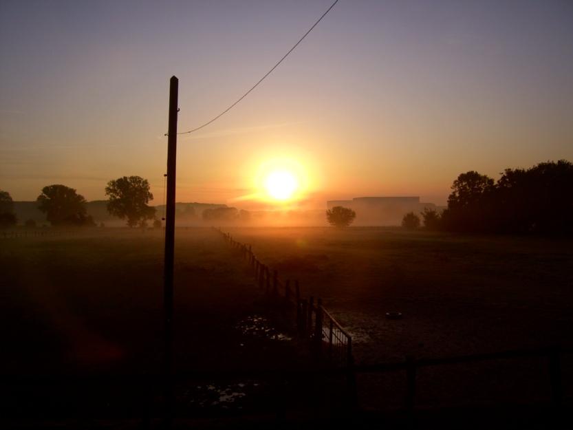 Nebel bein Sonnen Aufgang