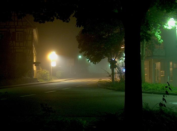 Nebel im Dorf