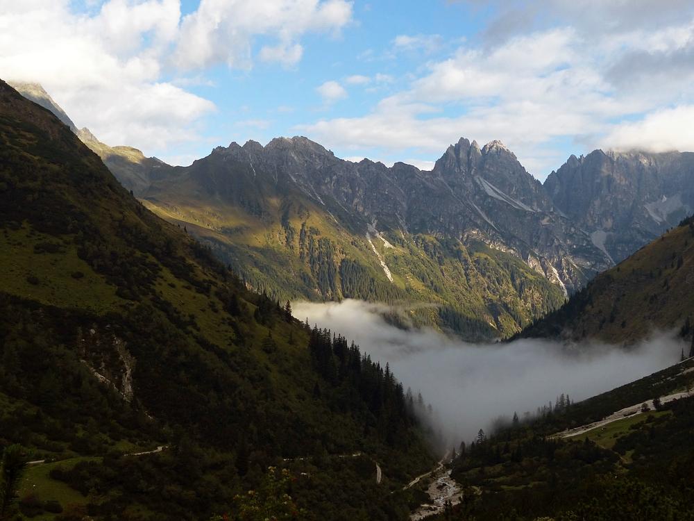 Nebel im Gschnitztal