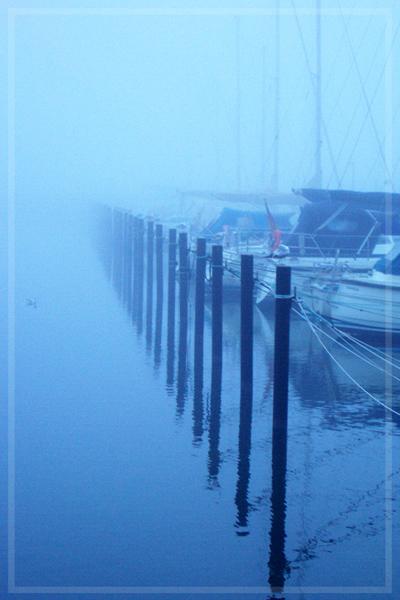 Nebel im Hafen