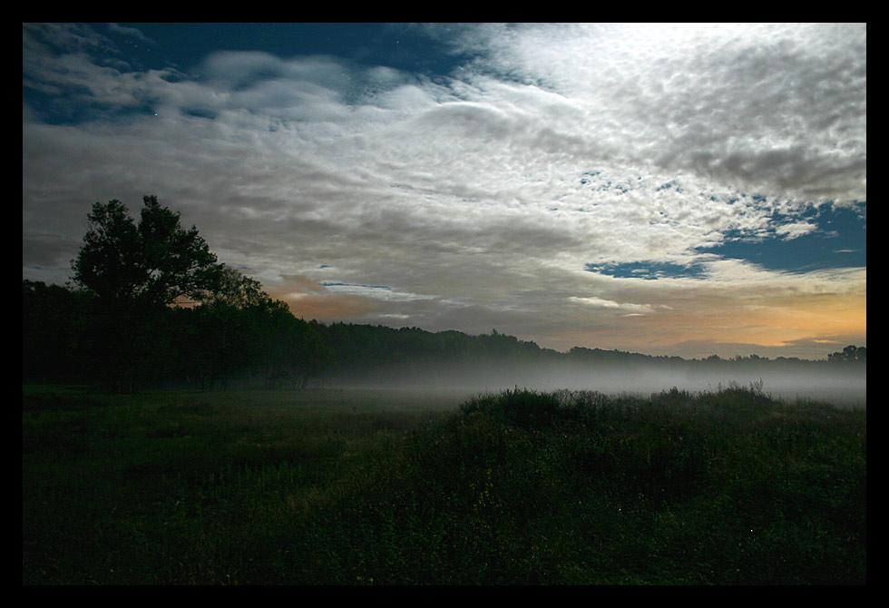 Nebel im Mondschein von Hansi vom Hinterhof