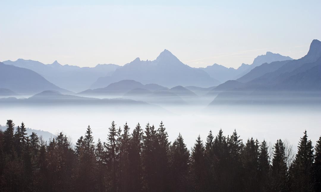 Nebel im Salzburger Becken