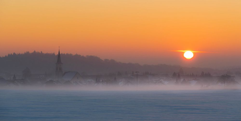 Nebel im Sonnenaufgang
