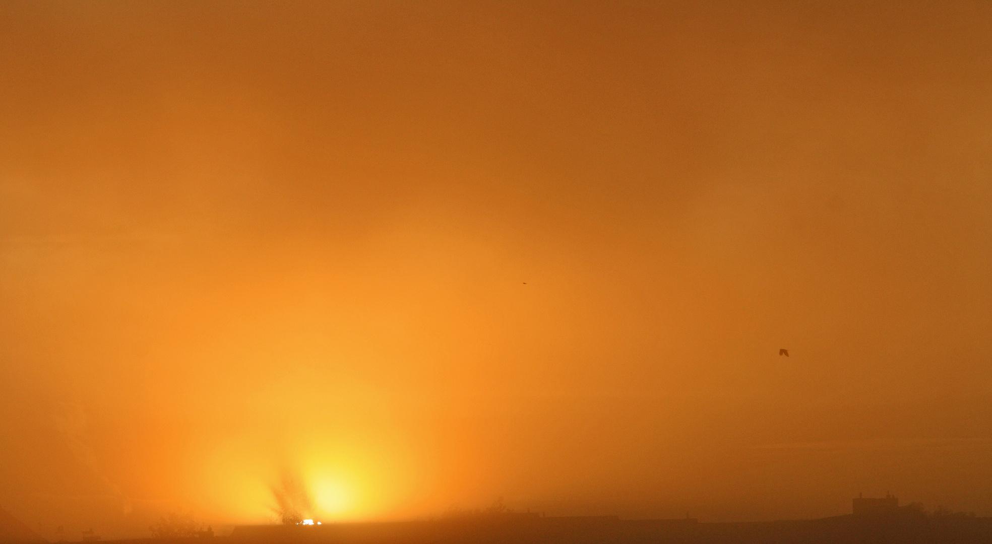 Nebel in orange