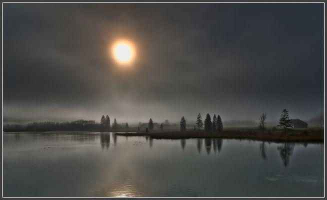 nebel, sonne
