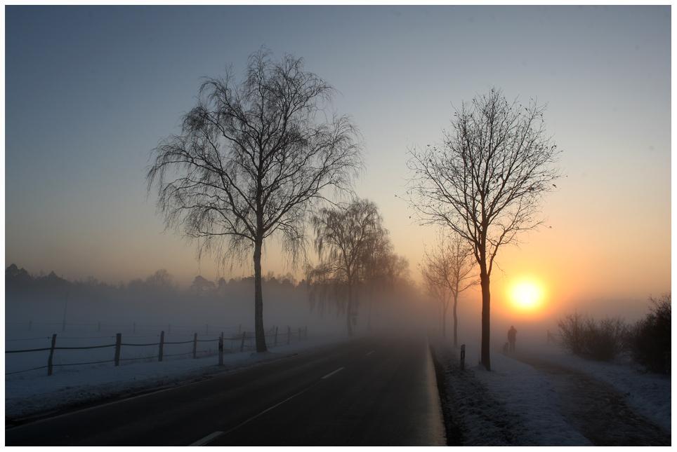 sonnenuntergang mit nebel und - photo #26