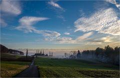 Nebel über dem Land