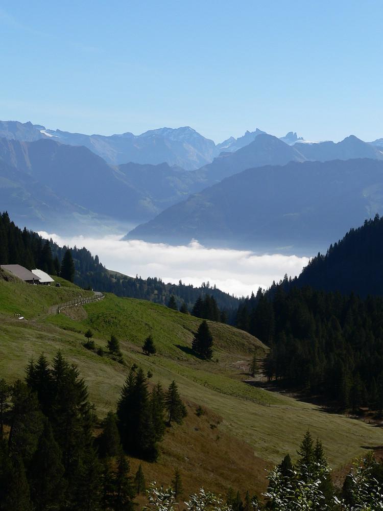 Nebel über den Sahner See