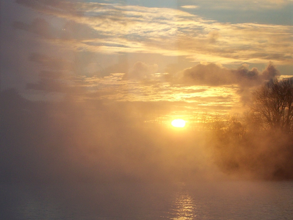 Nebel über der Alster