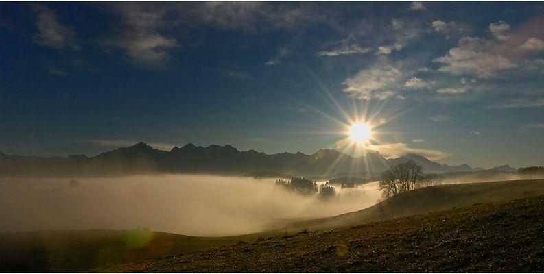 Nebel über Füssen/Allgäu