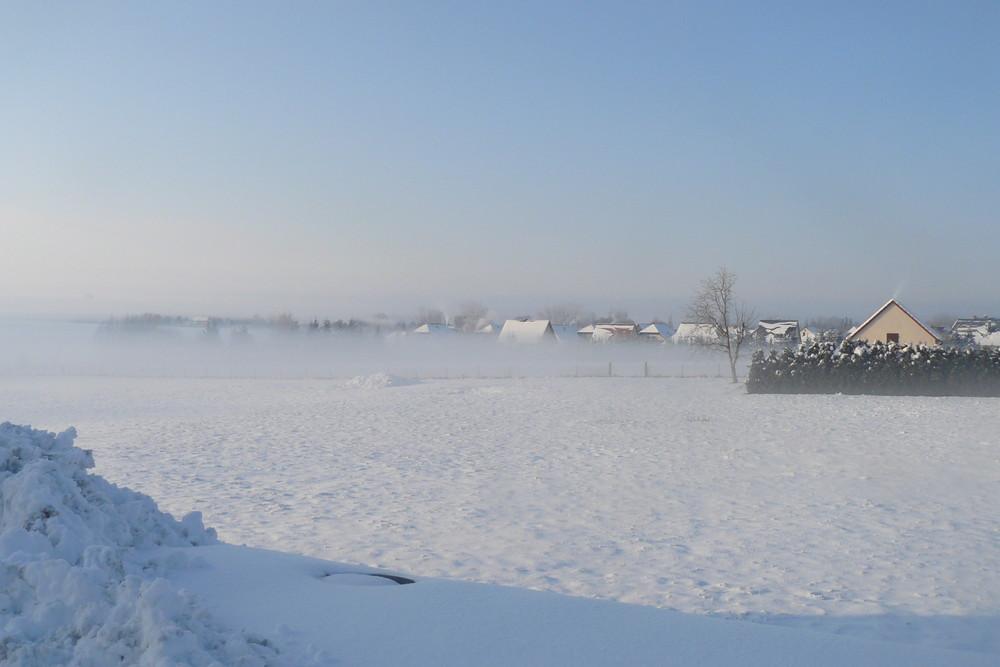 Nebel übern Flutgraben in zörbig