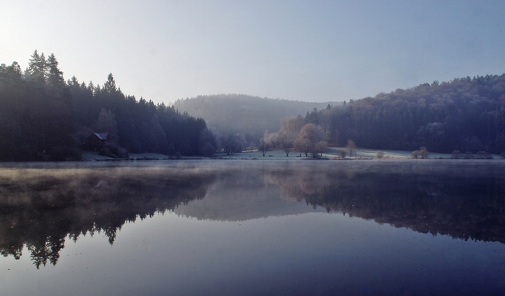Nebel und Frost am See ( 2 )