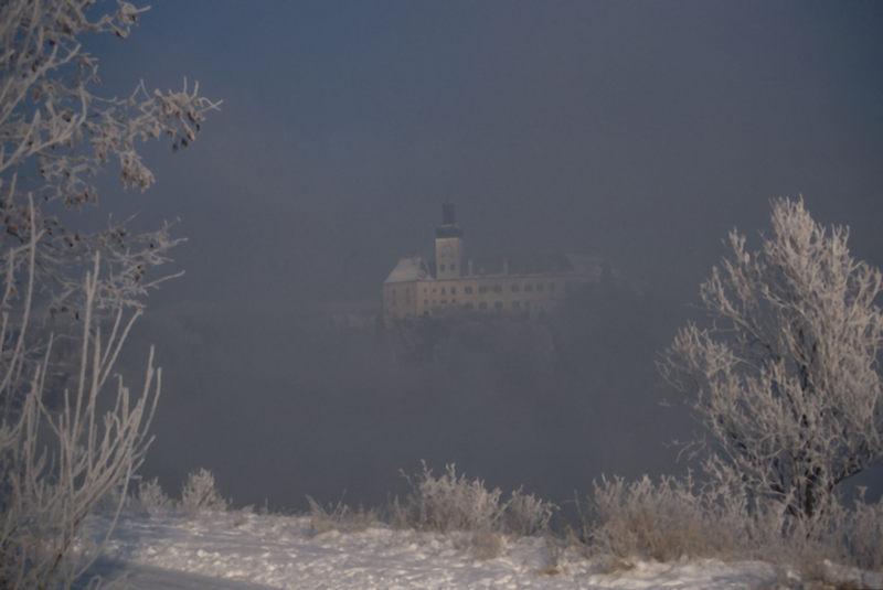 Nebel und Rauhreif